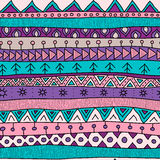 Tribal multicolor seamless pattern, indian or african ethnic patchwork style Stock Images