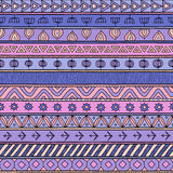 Tribal multicolor seamless pattern, indian or african ethnic patchwork style Royalty Free Stock Photography