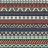 Tribal multicolor seamless pattern, indian or african ethnic patchwork style Stock Photos