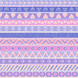 Tribal multicolor seamless pattern, indian or african ethnic patchwork style Stock Photo