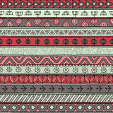 Tribal multicolor seamless pattern, indian or african ethnic patchwork style Stock Image