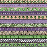 Tribal multicolor seamless pattern, indian or african ethnic patchwork style Stock Photography
