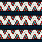 Tribal multicolor seamless pattern, indian or african ethnic patchwork style Royalty Free Stock Photo