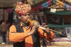 Tribal Musician Royalty Free Stock Photography