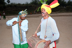 Tribal musicians Royalty Free Stock Photo