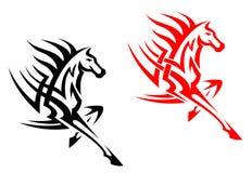 Tribal mustang stallion Stock Images