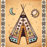 Tribal native American set of symbols Royalty Free Stock Photo