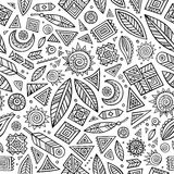 Tribal native ethnic seamless pattern Royalty Free Stock Photography