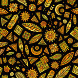 Tribal native ethnic seamless pattern Royalty Free Stock Photos