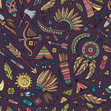 Tribal native ethnic seamless pattern Stock Images