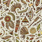 Tribal native ethnic seamless pattern Royalty Free Stock Images