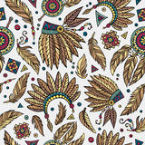 Tribal native ethnic seamless pattern Stock Image