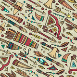 Tribal native ethnic seamless pattern Royalty Free Stock Image