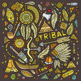 Tribal native set of symbols. Tribal abstract native American set of symbols Stock Images