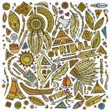 Tribal native set of symbols Royalty Free Stock Image