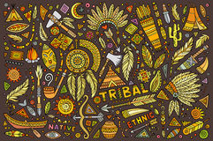 Tribal native set of symbols Stock Image