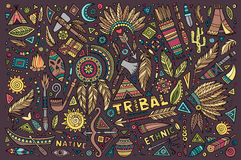 Tribal native set of symbols Royalty Free Stock Photo