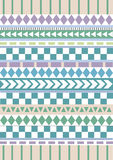 Tribal native shape patterns Royalty Free Stock Images