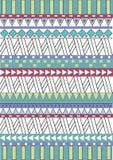 Tribal native shape patterns Royalty Free Stock Photo