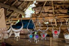 Tribal necklaces Stock Photo