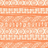 Tribal orange ornament Stock Image