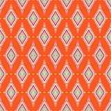 Tribal orange pattern with rhombuses Stock Photos
