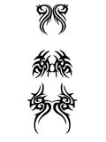 Tribal ornament. 3 tribal,tattoo ornament banner Royalty Free Stock Photography
