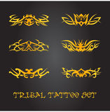 Tribal ornament set. Tribal tattoo  ornament collection Royalty Free Stock Photos