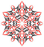 Tribal ornament in the shape of snowflakes Royalty Free Stock Photography