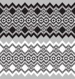 Tribal ornamental borders. Vector illustration Royalty Free Stock Photos