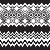 Tribal ornamental borders. Royalty Free Stock Images