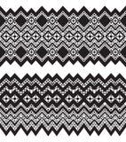 Tribal ornamental borders. Royalty Free Stock Photography