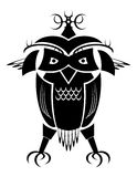 Tribal owl. A stylided tribal design of an owl Stock Photography