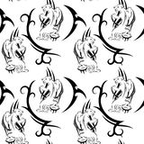 Tribal panther tattoo seamless pattern. Vector illustration vector illustration