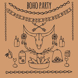 Tribal party ideas in boho style Stock Images