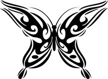 Tribal paru. Vector illustration of a butterfly Royalty Free Stock Photography