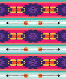 Tribal pattern with arrow Stock Image
