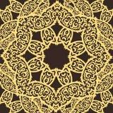 Tribal pattern. Beautiful vector seamless tribal yellow pattern design Stock Photo