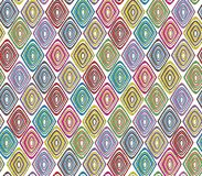 Seamless tribal pattern with a diamond motif of an African tribe royalty free stock photo