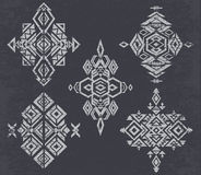 Tribal  pattern elements on grunge background. Royalty Free Stock Images