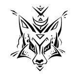 Tribal pattern Fox. Polynesian tattoo style. Vector illustration vector illustration