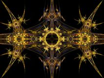 Tribal pattern fractal Royalty Free Stock Image