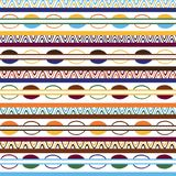 Tribal pattern with motifs of African tribes of central Kenya. royalty free stock photos