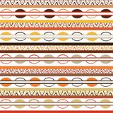 Tribal pattern with motifs of African tribes of central Kenya. stock photos