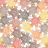 Tribal pattern with motifs of an African tribes Surma and Mursi royalty free stock photography