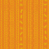 Tribal pattern orange Royalty Free Stock Photos