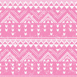 Tribal pattern, pink aztec print - old grunge Stock Photography