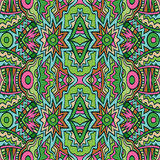 Tribal pattern in pink and green colors. Stock Photo