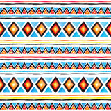 Tribal pattern. Seamless geometric background - tribal ornament. Watercolor. Tribal pattern. Seamless geometric background with tribal ornament. Watercolor Royalty Free Stock Image