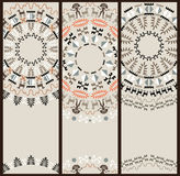 Tribal Pattern at Set of Cards Stock Photo